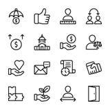 Liste de qualité personnelle, ligne icônes de gestion des employés illustration stock