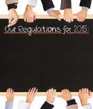 Liste de règlements Images stock