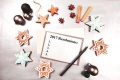 Liste de résolutions de nouvelle année Images stock