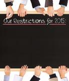 Liste de restrictions Images stock