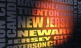 Liste de villes d'état de New Jersey Image libre de droits