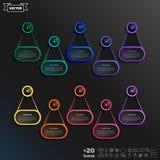 Liste infographic de conception de vecteur avec les cercles colorés Images libres de droits