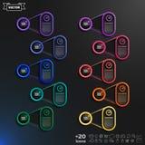 Liste infographic de conception de vecteur avec les cercles colorés Image libre de droits