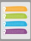 Liste numérotée infographic colorée - vecteur Photographie stock libre de droits