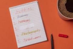 liste von hobbys