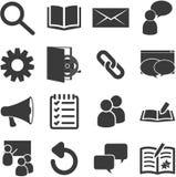 Liste von in Verbindung stehenden Ikonen des Klassenzimmers Lizenzfreies Stockfoto