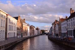 A urge to visit Bruges - Belgium. Listed as a UNESCO World Heritage site since 2000, Bruges is a fine example of a perfectly preserved historic city, with its stock image