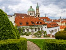 The Vrtba Garden in Prague is one of several fine High Baroque gardens in the Czech capital. royalty free stock image