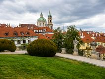 The Vrtba Garden in Prague is one of several fine High Baroque gardens in the Czech capital. stock images