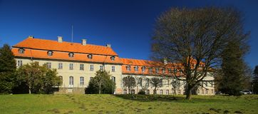 Listed monument Karlsburg Castle and Park near Greifswald in Germany.  Stock Photo