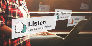 Listen Communication Listening Noise Concept.  royalty free stock image