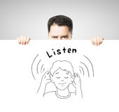 Listen concept Royalty Free Stock Photo