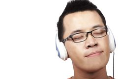 Listen and enjoy. Young man listen and enjoy Royalty Free Stock Photo