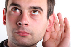 Listen man Royalty Free Stock Photo