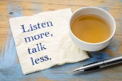 Listen more, talk less Royalty Free Stock Photo