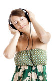 Listen music royalty free stock image