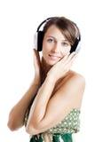 Listen music Royalty Free Stock Photo
