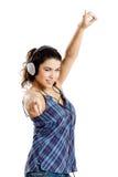Listen Music Stock Photo