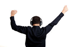 Listen music Stock Images