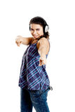 Listen Music Royalty Free Stock Photography