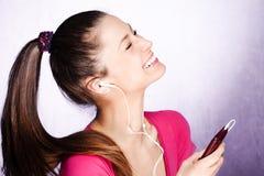 Listen music Stock Photos