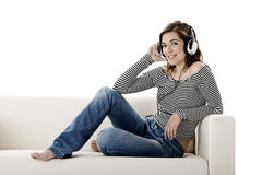 Listen music Royalty Free Stock Photo
