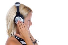 Listen music Royalty Free Stock Images