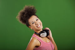 Listen music Stock Photography