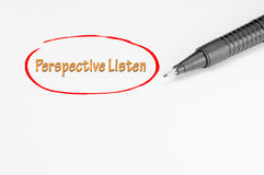Listen Perspectively - Business Concept Stock Photography