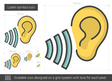 Listen symbol line icon. vector illustration