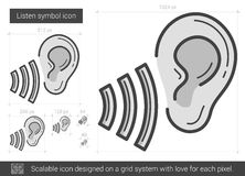 Listen symbol line icon. Royalty Free Stock Photos