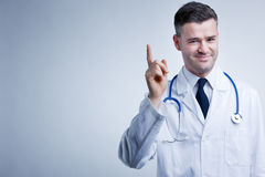 Listen to doctor's suggestions and advice royalty free stock images