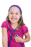 Listen to heart sounds Royalty Free Stock Photo