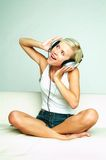 Listen to the music Stock Photography
