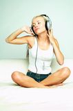 Listen to the music Royalty Free Stock Image