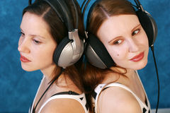 Listen to the music Stock Photo