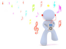 Listen to the music Royalty Free Stock Images