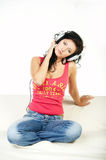 Listen to music Stock Image