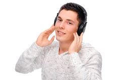 Listen to the music Stock Images