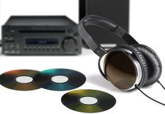 Listen to music. With Hifi and DVD royalty free stock photography