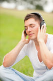 Listen to the music Royalty Free Stock Photos