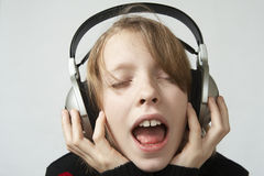 Listen to music stock photos
