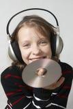 Listen to music Stock Photo