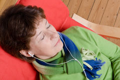 Listen to the music Stock Photos