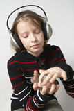 Listen to music Royalty Free Stock Image