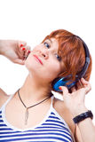 Listen to music Royalty Free Stock Images