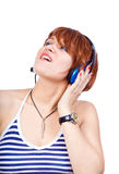 Listen to music Royalty Free Stock Photography