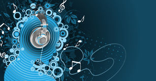 Listen to music. Abstract background with empty advert place for your business Royalty Free Stock Photography