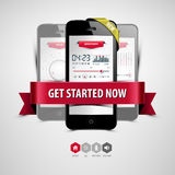 Listen to music from your smartphone Royalty Free Stock Photography