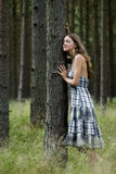 Listen to Nature. A Young Woman is Showing a Sincere Love and Respect to What Mother Nature Has To Say Stock Photography